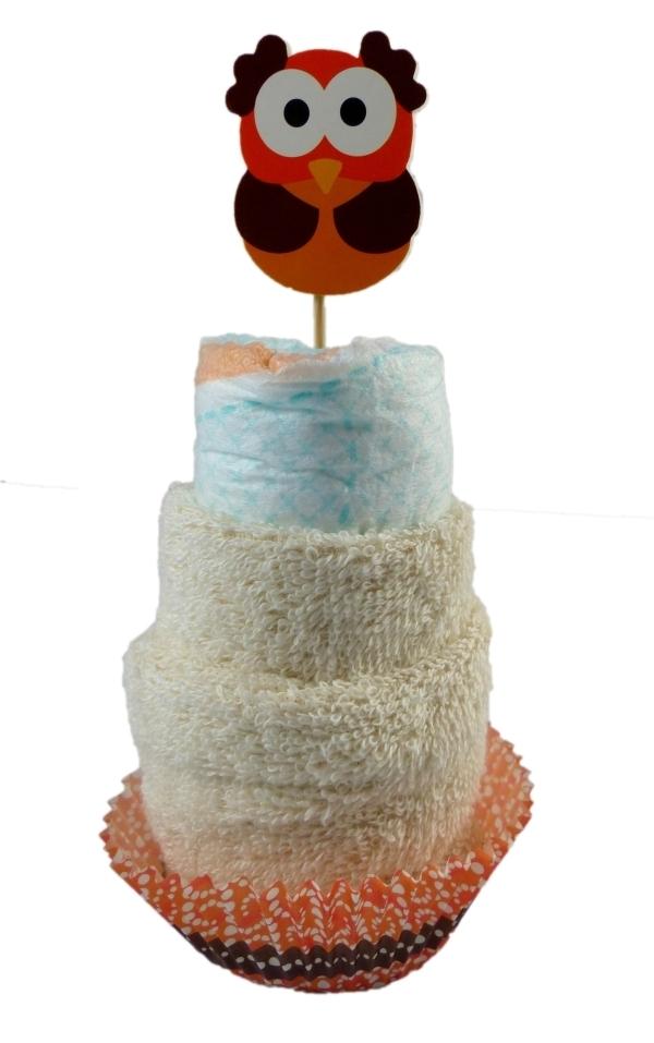 windeltorte cupcake eule babygeschenke. Black Bedroom Furniture Sets. Home Design Ideas