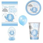 Babyparty-Set, Elefanten blau