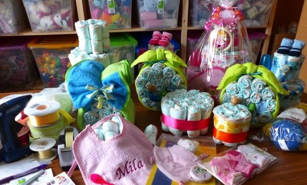 Unsere Windeltortenbackerei Babygeschenke Shop De